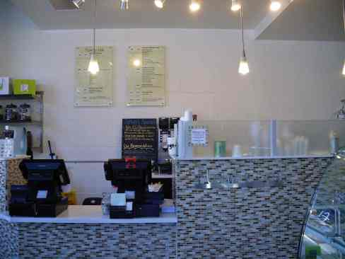 flour + tea  2 - menu + counter