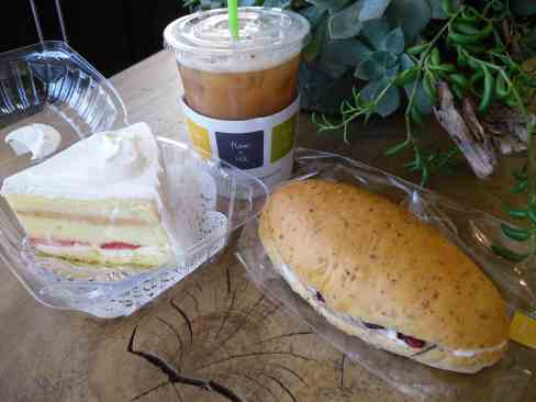 flour + tea  6 - dulce daisy + whole wheat cranberry cream