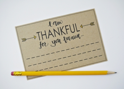 I am thankful for you because-1...