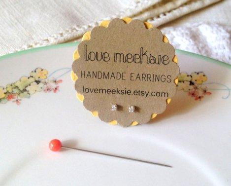 Love, Meeksie gem earrings