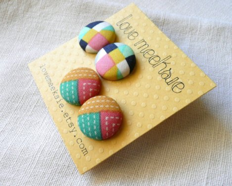 Love, Meeksie geometric summer earrings
