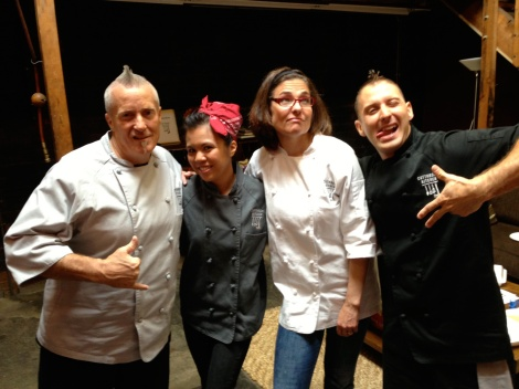 The Food Network Cutthroat Kitchen champ with her competitors