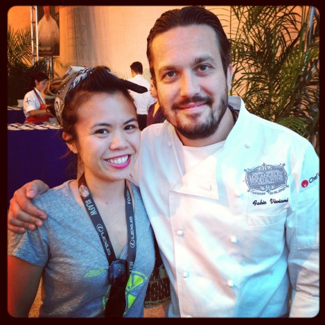 Merrin Mae and Chef Fabio Viviani at Los Angeles Food & Wine 2013