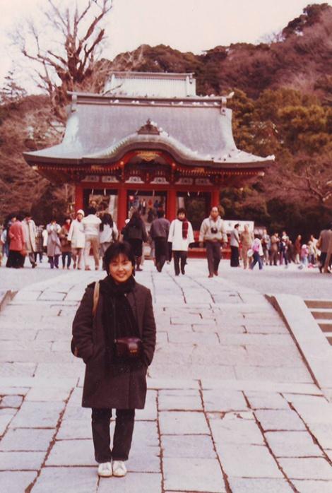 1984: Hirahara visiting Kamakura, near Tokyo