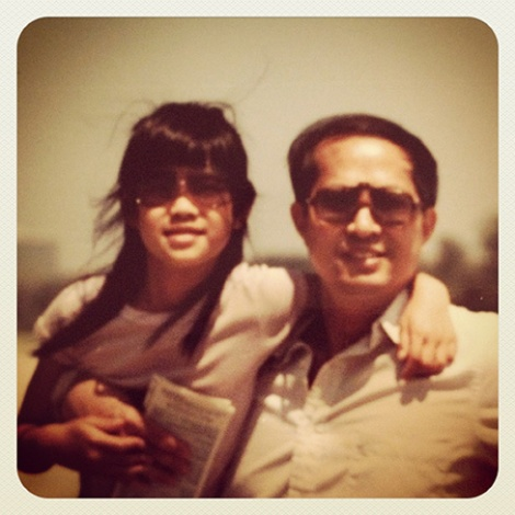 Lynn Chen with her father